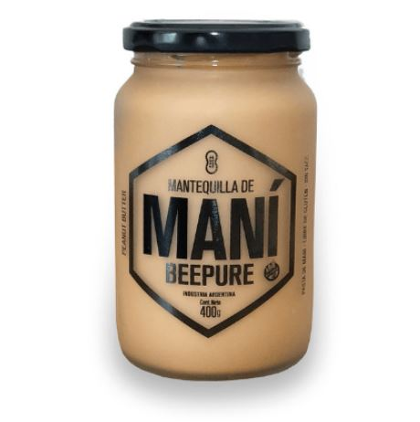 Mantequilla de mani sin azucar Beepure 400gr