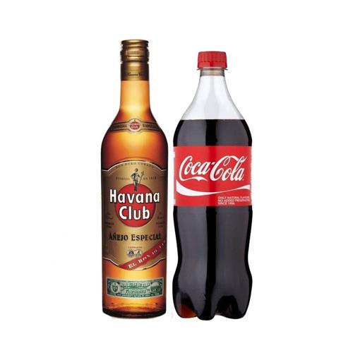 1 Ron Havana dorado + 1 Coca 1,5lt