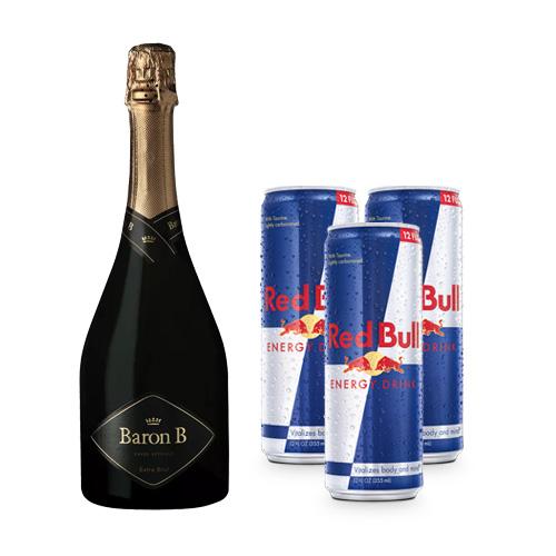 Baron B Extra Brut + 3 latas de Red Bull