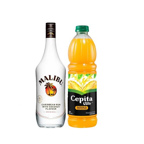 Malibu + 1 Jugo de naranja 1lt