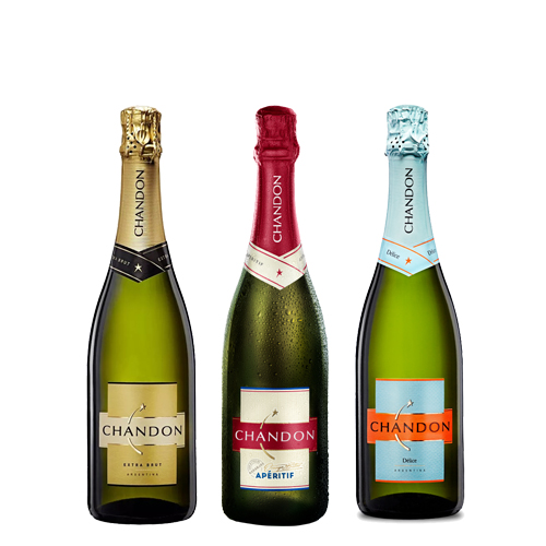 Mix Chandon: Chandon extra brut + Aperitiff + Delice