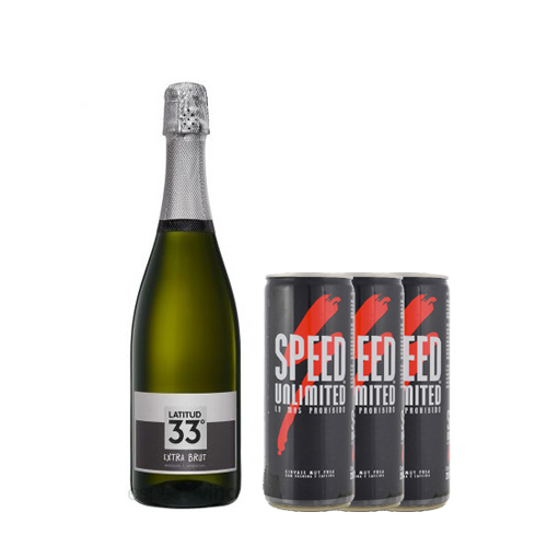 1 Latitud 33 Extra Brut 750cc + 3 latas de Speed 250ml
