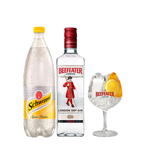 Beefeater + Agua Tonica 1,5 L   + COPON