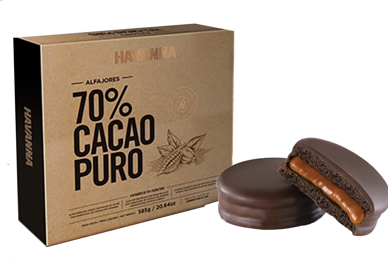 Caja Alfajores 70% Cacao 9u