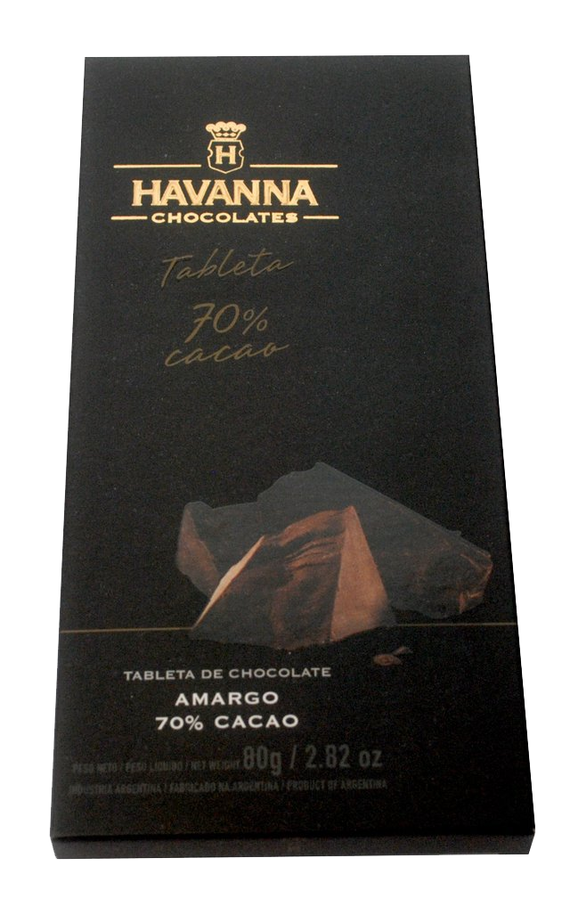 Tableta de Chocolate 70% Cacao x80grs